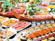 熱川温泉ホテルカターラRESORT&SPAの夕食バイキングイメージ